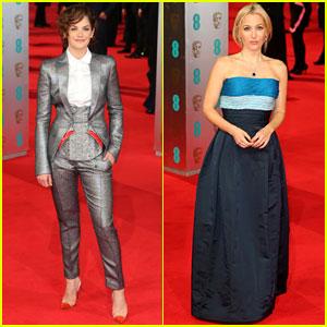 Ruth Wilson & Gillian Anderson - BAFTAs 2014 Red Carpet
