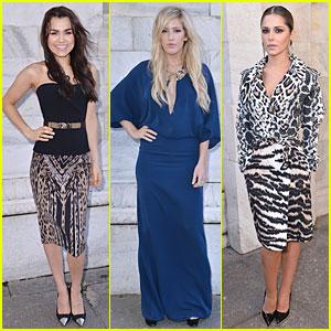 Samantha Barks & Ellie Goulding: Roberto Cavalli Fashion Show!