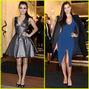 Samantha Barks & Irina Shayk: Roberto Cavalli Milan Boutique Opening