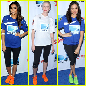 Shay Mitchell & Ireland Baldwin: DirecTV Beach Bowl Girls!