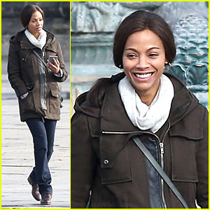 Zoe Saldana: Bundled For 'Rosemary's Baby' Set!