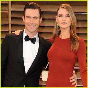 Adam Levine & Behati Prinsloo - Vanity Fair Oscars Party 2014