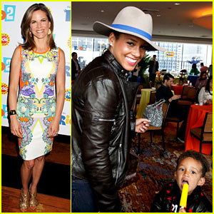 Alicia Keys & Son Egypt Wear Matching Jackets at 'Rio 2' Party!