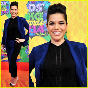 America Ferrera - Kids' Choice Awards 2014 Orange Carpet