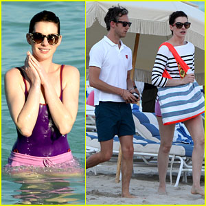 Anne Hathaway Hits the Beach for the Second Time This Month!