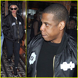 Beyonce Preps For Ireland Concert By Munching on Meditterranean Food with Jay Z!