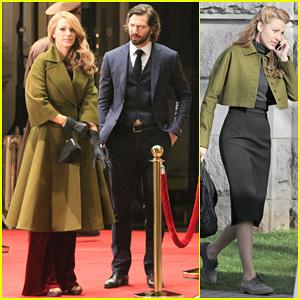 Blake Lively Joins Michiel Huisman On Set For 'Age of Adaline'!
