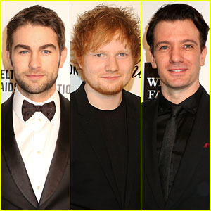 Chace Crawford & Ed Sheeran - Elton John Oscars Party 2014