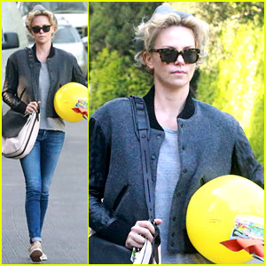 Charlize Theron Attends a Party While Sean Penn Tours Paris