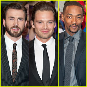 Chris Evans & Sebastian Stan Are Two Dapper Dudes at 'Captain America 2' UK Premiere