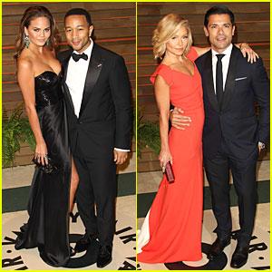 Chrissy Teigen & John Legend - Vanity Fair Oscars Party 2014