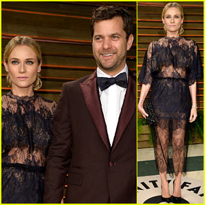Diane Kruger: Sexy Sheer at Vanity Fair Oscars Party 2014 with Joshua Jackson!