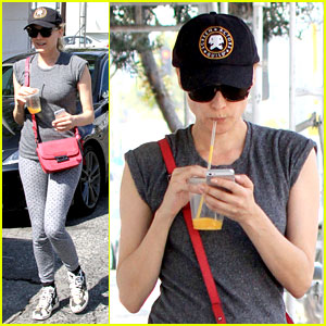 Diane Kruger Juices Up After Her Mid-Week Workout