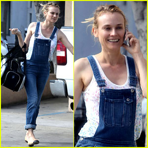 Diane Kruger Wears Her Overalls to Bring Her Cat to the Vet