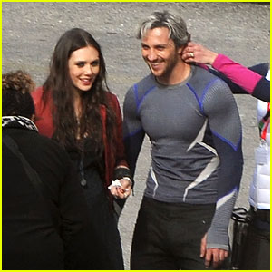 Elizabeth Olsen & Aaron Taylor-Johnson Get Touched Up on 'Avengers: Age of Ultron' Set!