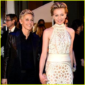 Ellen DeGeneres & Portia De Rossi: Oscars Governors Ball 2014