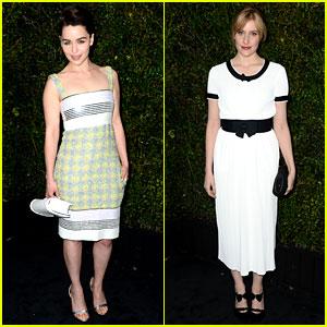 Emilia Clarke & Greta Gerwig: Chanel Pre-Oscars Dinner!