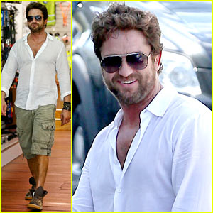 Gerard Butler Gives Us Just a Peek at His Shirtless Physique!