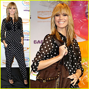 Heidi Klum is a Polka-dot & Sheer Host at Babies'R'Us Event!