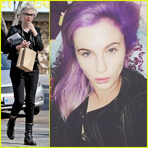 Ireland Baldwin Dyes Her Hair Purple - See the Photos!