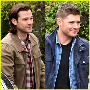 Jared Padalecki & Jensen Ackles Work in the Pouring Rain