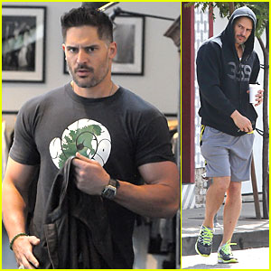 Joe Manganiello Shows Off Bulging Guns at John Varvatos Boutique!