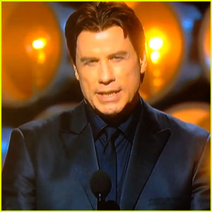 John Travolta Butchers Idina Menzel's Name at Oscars 2014 (V
