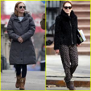 Kate Bosworth & Julianne Moore Don't Let the Freezing Weather Stop Them on 'Still Alice' Set!