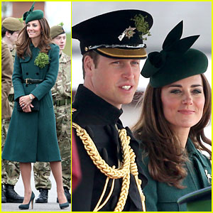 Kate Middleton Goes Green for St. Patrick's Day Parade with Prince William!