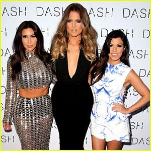 Kim Kardashian Wears Metal Chain Mail Dress for Dash Opening