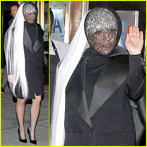 Lady Gaga's Beauty Is Still Recognizable Under a Veil!