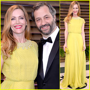 Leslie Mann & Judd Apatow Look So Happy at Vanity Fair Oscars Party 2014!