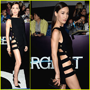 Maggie Q Wears No Underwear at 'Divergent' Premiere!