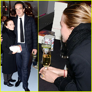 Mary-Kate Olsen & Olivier Sarkozy: First Post Engagement Appearance!