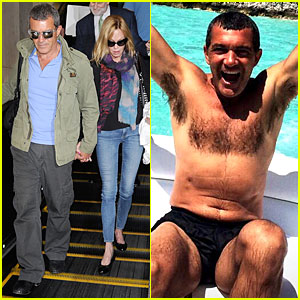 Melanie Griffith Snaps Shirtless Antonio Banderas on Vacation!