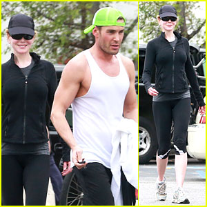 Nicole Kidman Trades Oscars For Workout with Hunky Trainer!
