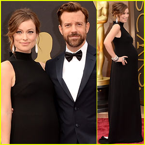 Olivia Wilde Bares Baby Bump on Oscars 2014 Red Carpet with Jason Sudeikis!