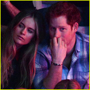 Prince Harry & Girlfriend Cressida Bonas Cuddle in the Stands at We Day UK