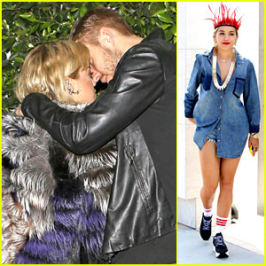 Rita Ora & Calvin Harris Share Tender Moment After Dinner