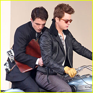 Robert Pattinson & Dane DeHaan Enjoy 'Life' on a Motorcycle!