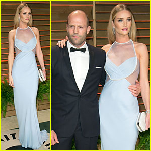 Rosie Huntington-Whiteley Sheers It Up at Vanity Fair Oscars Party 2014 with Jas