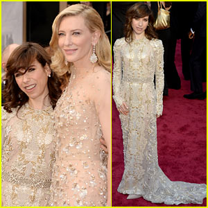 Blue Jasmine's Sally Hawkins Meets Up with Her Co-Star Cate Blanchett at Oscars 2014!