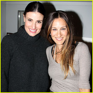 Sarah Jessica Parker Visits Idina Menzel at Broadway's 'If/Then'