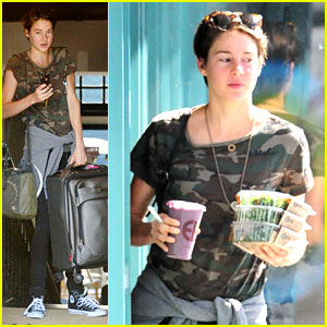 Shailene Woodley Grabs a Salad Before Flying to New York City
