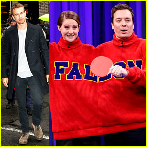 Shailene Woodley & Theo James Diverge to Late Night's Two Different Shows!