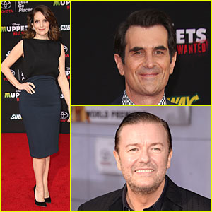 Tina Fey & Ty Burrell Are the Most Wanted at 'Muppets' Hollywood Premiere!
