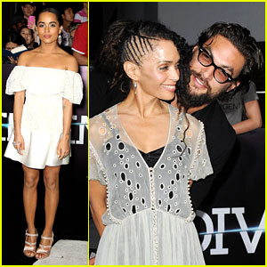 Zoe Kravitz Gets Support from Mom Lisa Bonet & Step-Dad Jason Momoa at 'Divergent' Premiere!