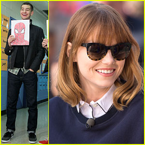 Andrew Garfield & Emma Stone Continue to Show Their Hearts of Gold on Be Amazing Volunteering Day!