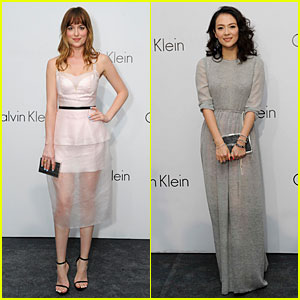 Dakota Johnson & Ziyi Zhang Celebrate Calvin Klein in Singapore!