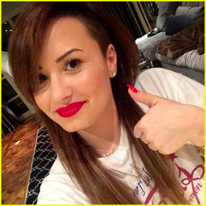 Demi Lovato Goes Back to Brunette, Vows to 'Give Her Hair a Break' - See the Pic!